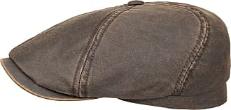Stetson Brooklin Mens Old Cotton Flat Cap - Driver Cap with pre-Distressed Look - Cap with Factor 40 UV Protection - Cotton Peaked Cap - Spring/Summer Flat Ca