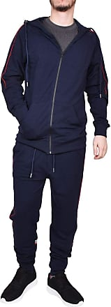 True Face Mens Tracksuit Full Zip Hoodie Elasticated Trouser Joggers Sports Track Suit Running Workout Jogging Fitness MG22 Navy XL