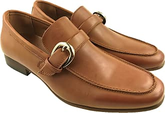 Generic Mens Faux Leather Slip on Casual Moccasins Formal Work Shoes Buckle Detail Size UK 7-13 (9.5 UK, Tan)