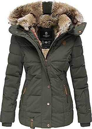 99a7d6c1e33f46 Marikoo Damen Winter Jacke Stepp Jacke Kunst-Fellkragen Warm gefüttert  NKO167 (X-Small