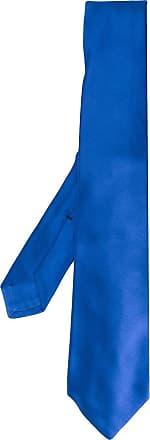 Kiton Gravata trançada de seda - Azul