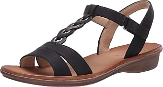 Naturalizer Womens Shelly Sandal, Black, 6 Wide