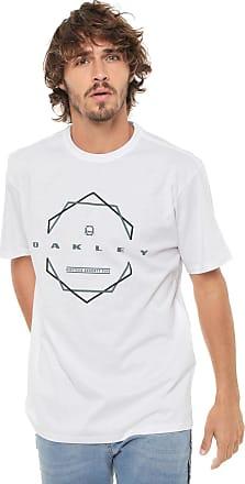 c3ef224271551 Oakley Camiseta Oakley Cranked Hex Branca