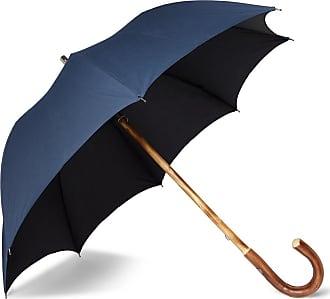 Francesco Maglia Chestnut Wood-handle Umbrella - Navy