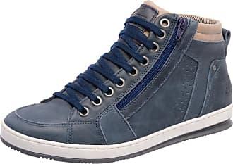 424c79f2817 Mega Boots Sapatênis em Couro Mega Boots 15016 C Azul Marinho