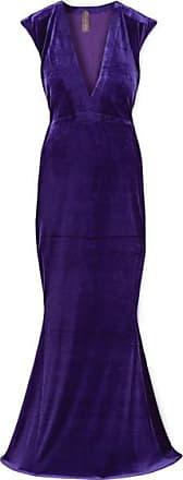 Norma Kamali Stretch-velvet Gown - Indigo