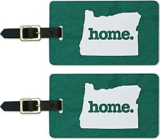 Graphics & More Oregon OR Home State Luggage Suitcase ID Tags Set of 2 - Textured Teal
