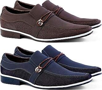 Venetto Kit Masculino Sapato Social Thor Confort Venetto Marrom/azul 43