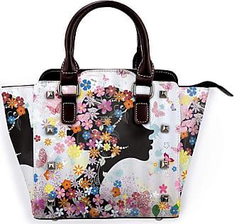 Browncin Pink Butterfly Girl With Floral Dress Flower Design Fairy Angel Wings Dreamy Folklore Detachable Fashion Trend Ladies Handbag Shoulder Bag Messenger B