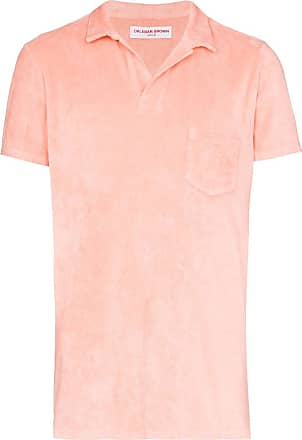 Orlebar Brown Terry towel polo shirt - PINK