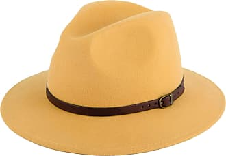 Hat To Socks Wool Fedora Felt Trilby Hat (Mustard, 57 cm)