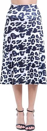 101 Resort Wear Saia 101 Resort Wear Midi Jersey Onça Preto e Branco