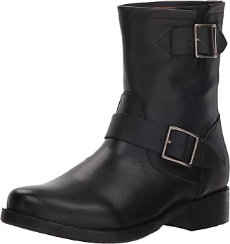 Frye Womens Vicky Engineer Ankle Boot, Black, 6 UK