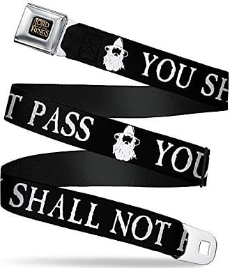 Buckle-Down Unisex-Adults Seatbelt Belt Straight Edge Quote Regular 1.5 Wide-24-38 Inches Black//White
