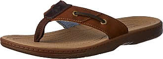 Sperry Top-Sider Mens Baitfish Thong Sandal,Brown/Buck Brown,13 M US