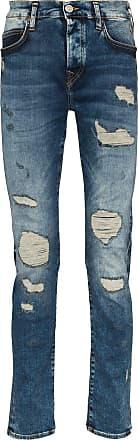 True Religion Calça jeans slim Roco com efeito destroyed - Azul