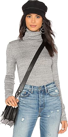 Splendid Classic Turtleneck Top in Gray
