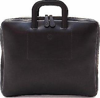 La Portegna 15 Black Belgrano Office Bag Laptop Bag - Black/Leather