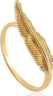 Coliseu anel de ouro 18k de pena