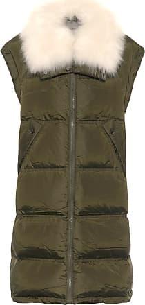 Yves Salomon Shearling-trimmed down puffer vest