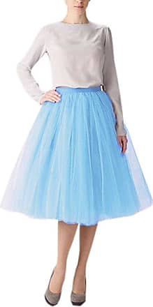 Clearbridal Womens 50s Vintage Tulle Petticoat Tutu Skirt Bridal Petticoat Underskirt for Prom Evening Wedding Party 12021 Sky Blue