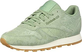 Reebok Womens Classic Leather Walking Shoe, Exotics-Industrial Green, 10.5 M US