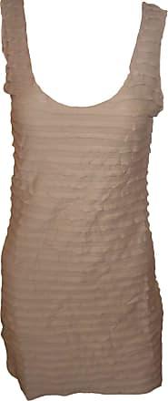 Topshop Womens Brown Pleated Sleeveless Summer Dress UK 12