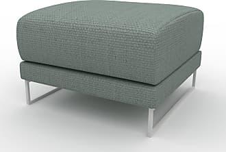 MYCS Polsterhocker Taubenblau - Eleganter Polsterhocker: Hochwertige Qualität, einzigartiges Design - 60 x 42 x 60 cm, Individuell konfigurierbar