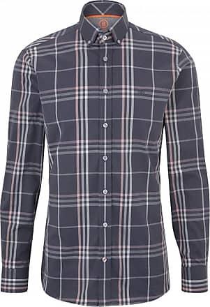 Bogner Timi Cotton-Twill Shirt for Men - Anthracite/Grey