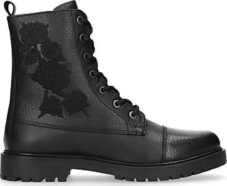 1ed10cc09e4c Shoecolate Bottines à lacets en cuir avec fleurs brodées - noir (36