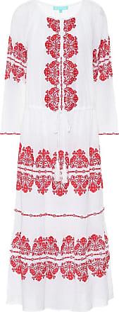 Melissa Odabash Lela embroidered cotton kaftan