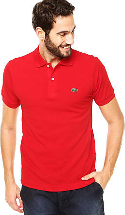 Lacoste Camisa Polo Lacoste Classic Fit Logo Vermelha 944a12654f657