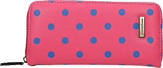 Swankyswans Bella Polka Dot Long Zip around Wallet Brink Pink Blue Dot