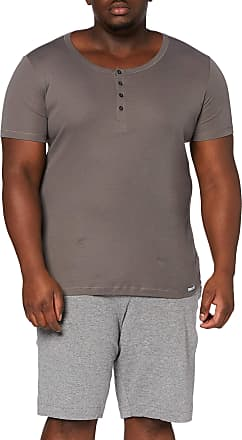 Schiesser Mens Long Life Cool Shirt 1/2 Knopfleiste Undershirt, Brown (Taupe 310), Medium