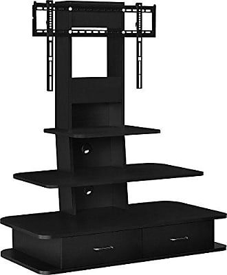 Dorel Home Products Ameriwood Home Galaxy TV Stand with Mount and Drawers for TVs up to 70 Wide, Black