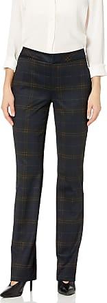 NYDJ Womens Ponte Slim Trouser Pants, Oaklyn Plaid, 0