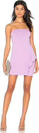 Susana Monaco 16 Strapless Dress With Ruffle Detail in Lavender
