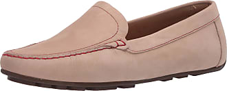 Driver Club USA Womens Leather Made in Brazil Driving Loafer with Venetian Detail, Cream Nubuck/Contrast Stitch, 5.5 UK