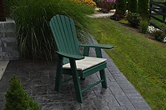 A & L Furniture A & L Furniture 882-TG Turf Green Poly Upright Adirondack Chair