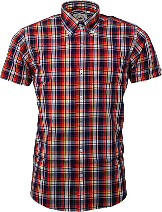 Relco Mens Checked Shirts (X Large, Navy)