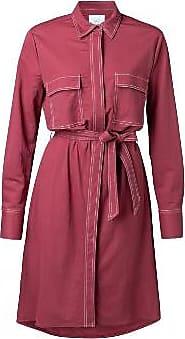 YaYa Hemdkleid mit Kontrastnähten - Burgunderrot - viscose | burgundy | size 38 - Burgundy