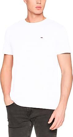 Tommy Jeans Herren Original Triblend Kurzarm T-Shirt Weiß (Classic White 100) Small