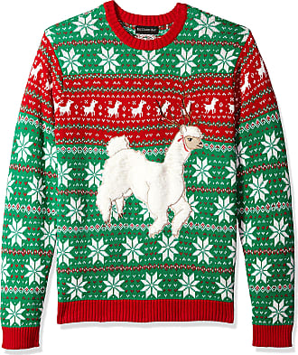 Blizzard Bay Girls L//S Crew Neck Festive Llama Christmas Sweater