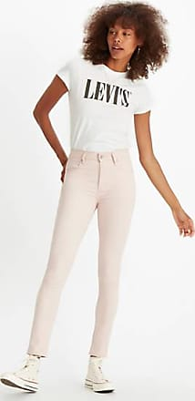 Levi's 721 High Rise Skinny Jeans - Pink / Sepia Rose