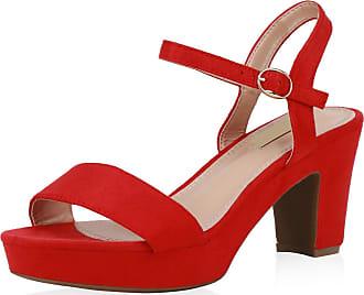 Scarpe Vita Women High-Heeled Sandals Platform Sandals Platform Front 193499 Red UK 5.5 EU 39