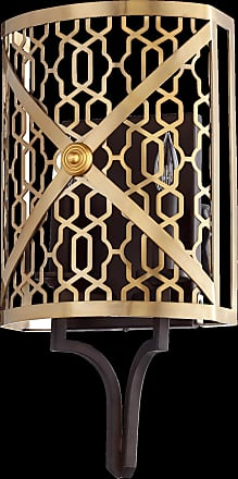 Quorum Renzo Light Wall Sconce in Aged Brass w/ Oiled Bronze