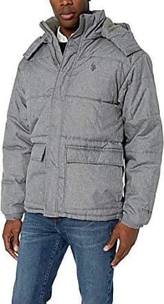 Mens Classic Bubble Jacket U.S XXL Dark Heather Grey Polo Assn