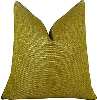 Plutus Brands Plutus Lemon Curry Handmade Throw Pillow, 12 x 20, Metallic Citrine/Gold