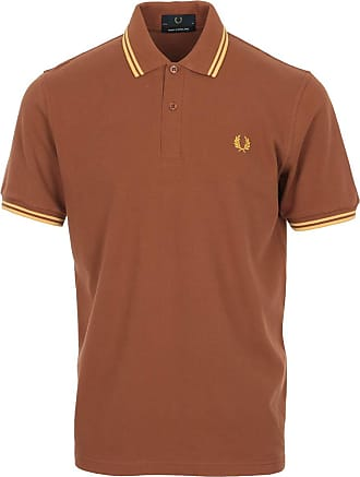 Fred Perry Twin Tipped Shirt Made in England, Polo Shirt - 40 EU Brown