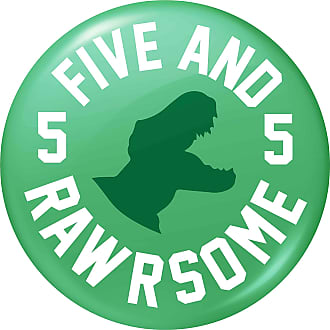 Flox Creative 77mm Pin Badge Five and Rawrsome